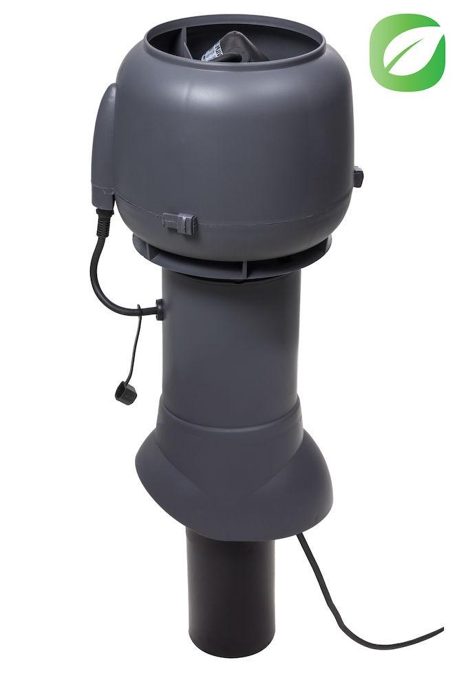 Вентилятор ECo110P/110/500  0 -600 м3/ч для биотуалетов и удаления радона серый