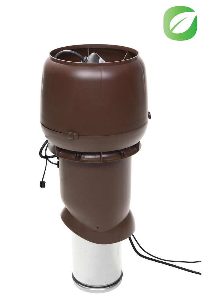 Вентилятор воздуховода 220Р/160/500  Р 0 - 1000м3/ч  зеленый