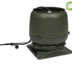 Вентилятор воздуховода ECo 220 S 0-1000м3/ч + основание зеленый