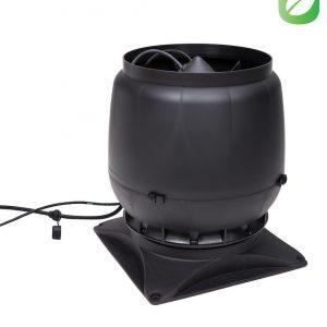 Вентилятор воздуховода ECo250S 0-1250м3/ч + основание черный