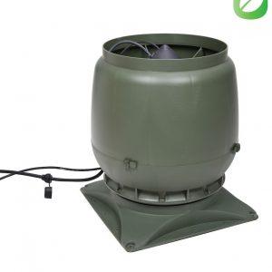 Вентилятор воздуховода ECo250S 0-1250м3/ч + основание зеленый