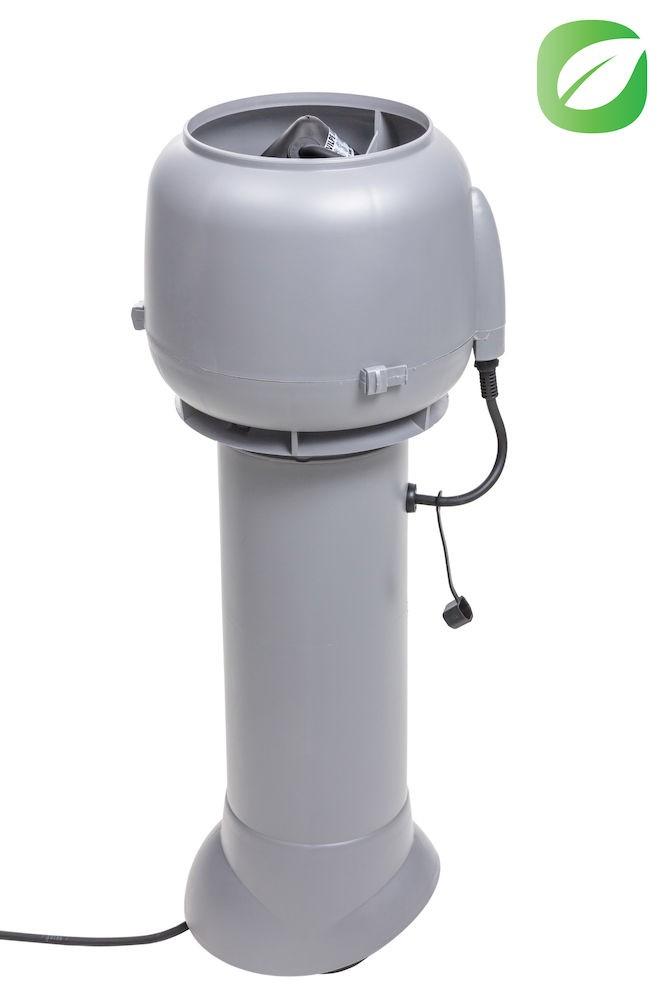 Вентилятор ECo110P/110/700  0 -600 м3/ч для биотуалетов и удаления радона светло-серый