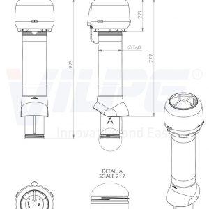Вентилятор воздуховода E120 Р 0-100м3/ч  кирпичный