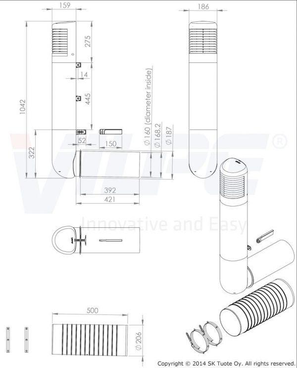 Цокольный дефлектор ROSS - 160/170 дефлектор бежевый