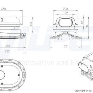 Проходной элемент для металлочерепицы с круглым профилем Solar Muotokate кирпичный