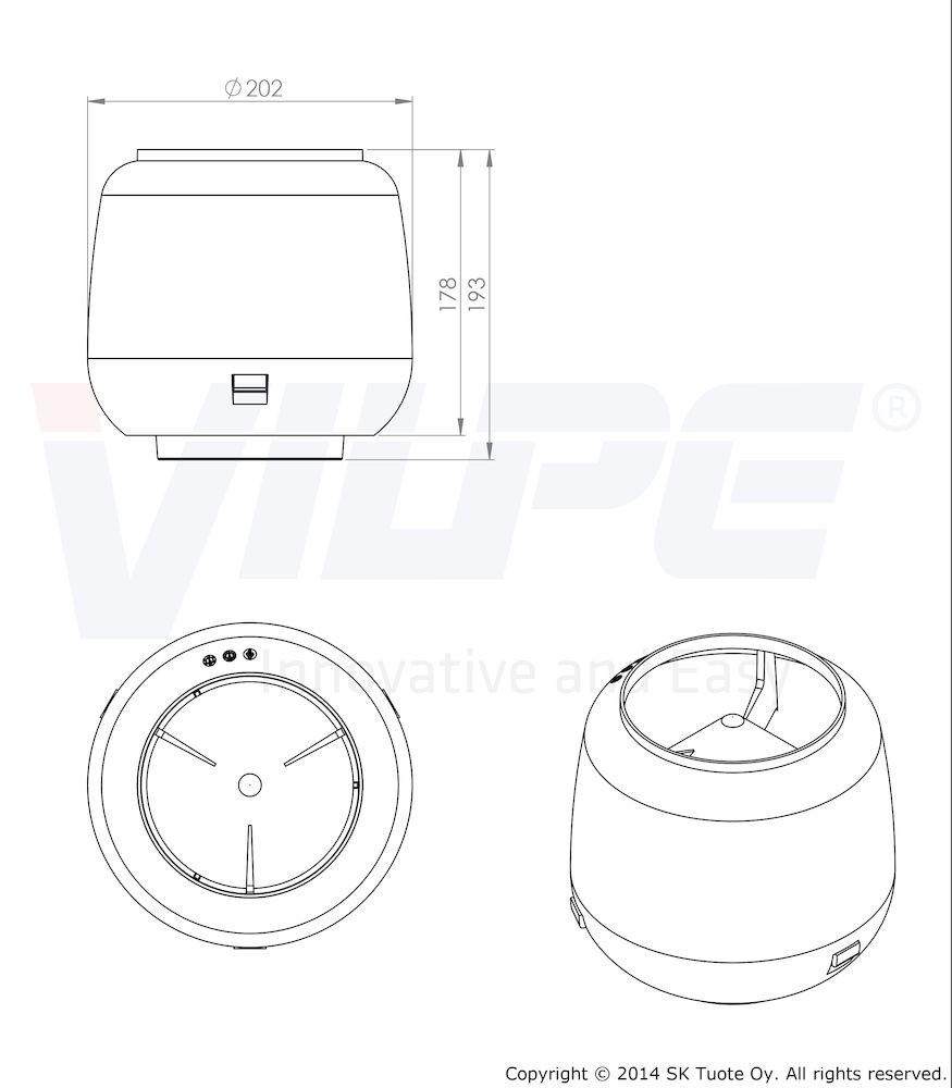 Колпак дефлектор для труб Vilpe 110 мм синий