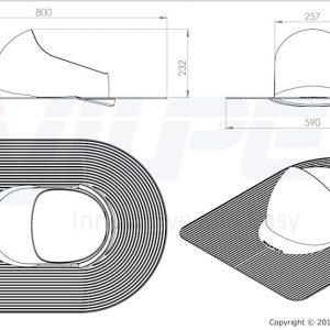 Проходной элемент для труб XL Huopa 160-250 мм кирпичный