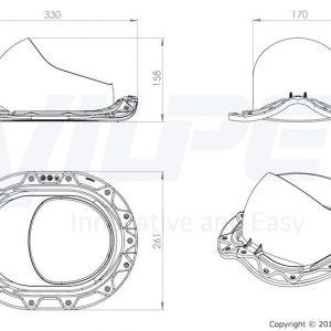 Проходной элемент для металлочерепицы с округлым профилем Muotokate баклажан
