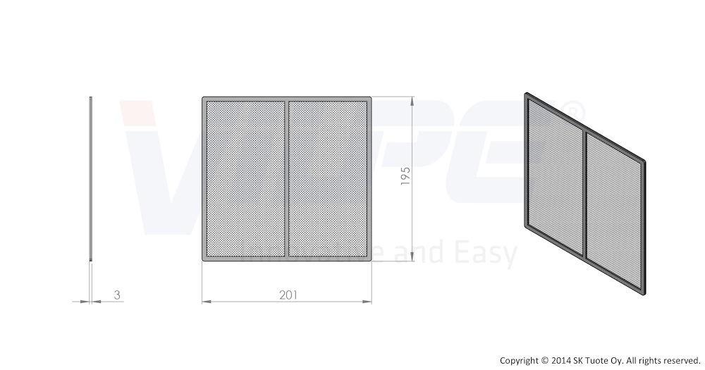 Сетка вентиляционной решетки 240х240 к решетке 240х240 серый