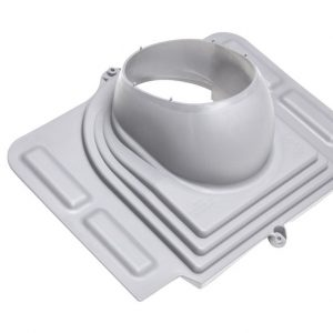 Проходной элемент для металлочерепицы Pelti светло-серый