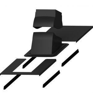 Проходной элемент для дымовой трубы Piippu Modular черный