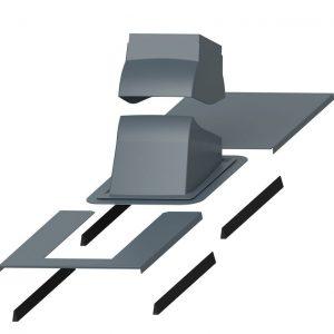 Проходной элемент для дымовой трубы Piippu Modular серый