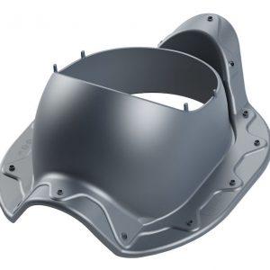 Проходной элемент для металлочерепицы типа Armorium ARMOR 2K серый