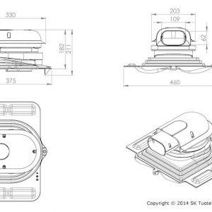 Проходной элемент для металлочерепицы Solar Pelti кирпичный