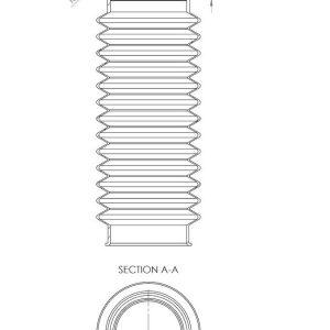 Труба гофрированная - 110  черный