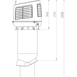 Приточный вентиляционный элемет 160/ER/700 INTAKE светло-серый