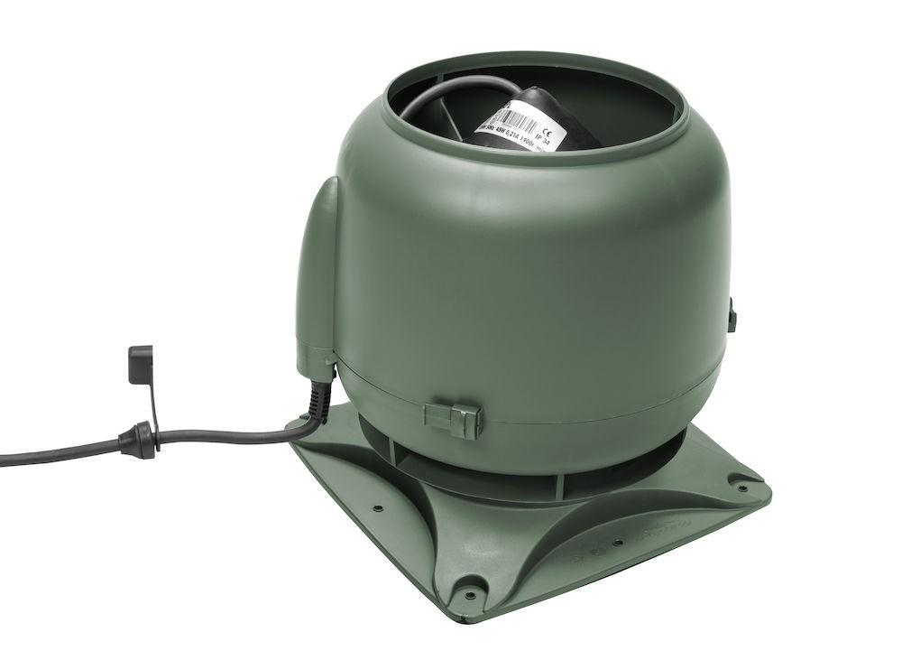 Вентилятор воздуховода E120S 0-400 м3/ч зеленый