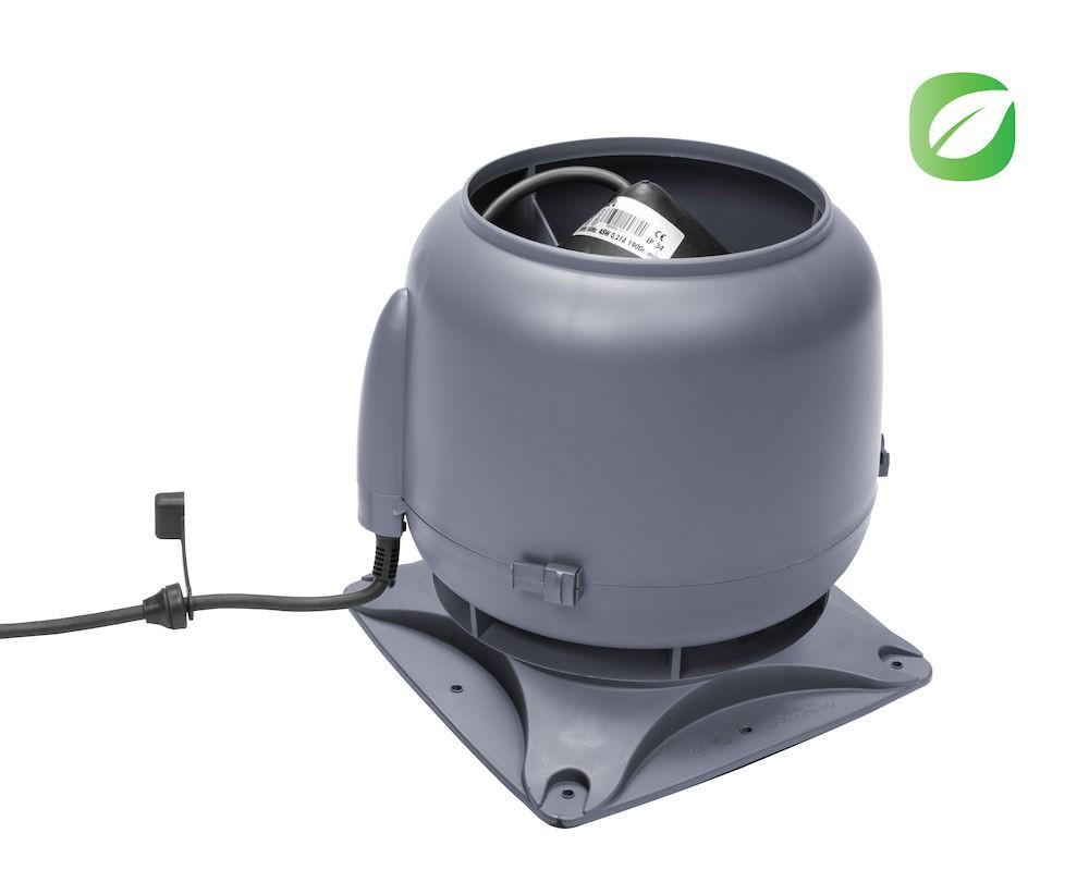 Вентилятор ECo110S  0 -600 м3/ч для биотуалетов и удаления радона серый