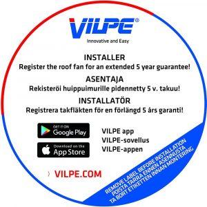 Вентилятор ECo110S  0 -600 м3/ч для биотуалетов и удаления радона кирпичный