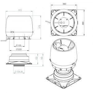 Вентилятор воздуховода E190S 0-500 м3/ч коричневый