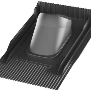 Проходной элемент для натуральной черепицы Unitile 2K черный