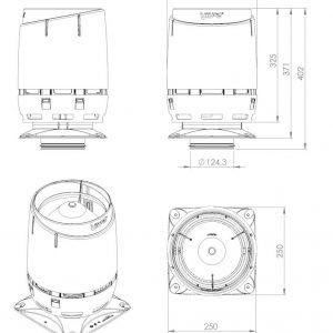 Вентиляционный выход FLOW 125S серый