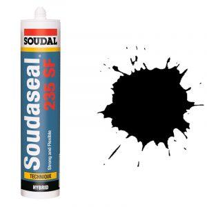 Эластичный клей-герметик с прочным креплением Soudaseal 235 SF черный (290 мл)