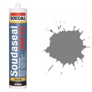Эластичный клей-герметик быстрого отверждения Soudaseal 240 FC серый (600 мл)