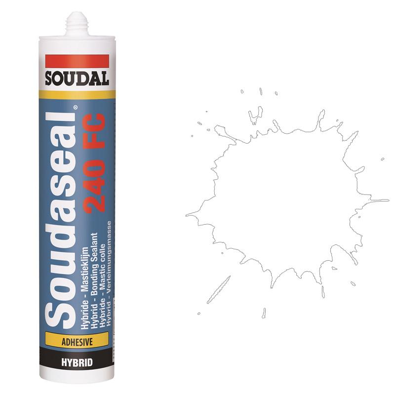 Эластичный клей-герметик быстрого отверждения Soudaseal 240 FC белый (600 мл)