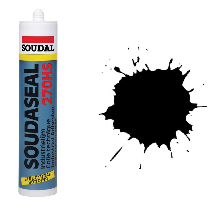 Высокопрочный конструкционный клей-герметик черный Soudaseal 270 (600 мл)