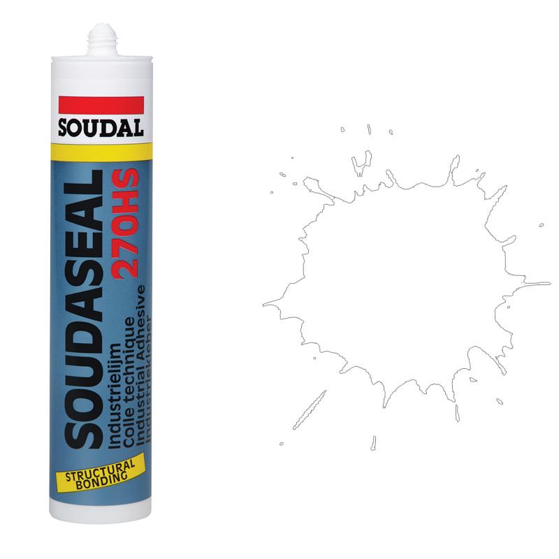Высокопрочный конструкционный клей-герметик белый Soudaseal 270 (600 мл)