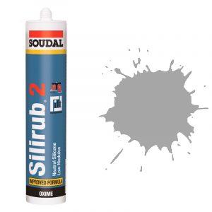 Silirub 2 нейтральный силиконовый герметик алюминиевый серый (310 мл)