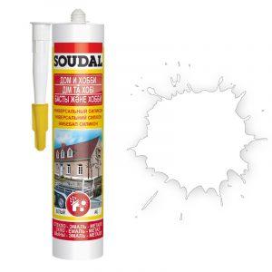 Soudal универсальный силиконовый герметик белый (280 мл)