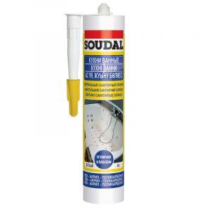 Soudal нейтральный санитарный силиконовый герметик бесцветный (280 мл)