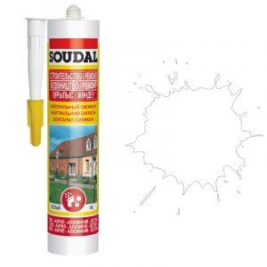 Soudal нейтральный силиконовый герметик белый (280 мл)