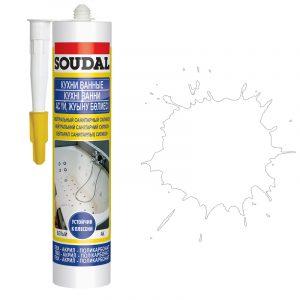 Soudal нейтральный санитарный силиконовый герметик белый (280 мл)