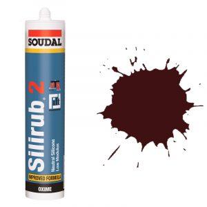 Silirub 2 нейтральный силиконовый герметик rustic красный (310 мл)