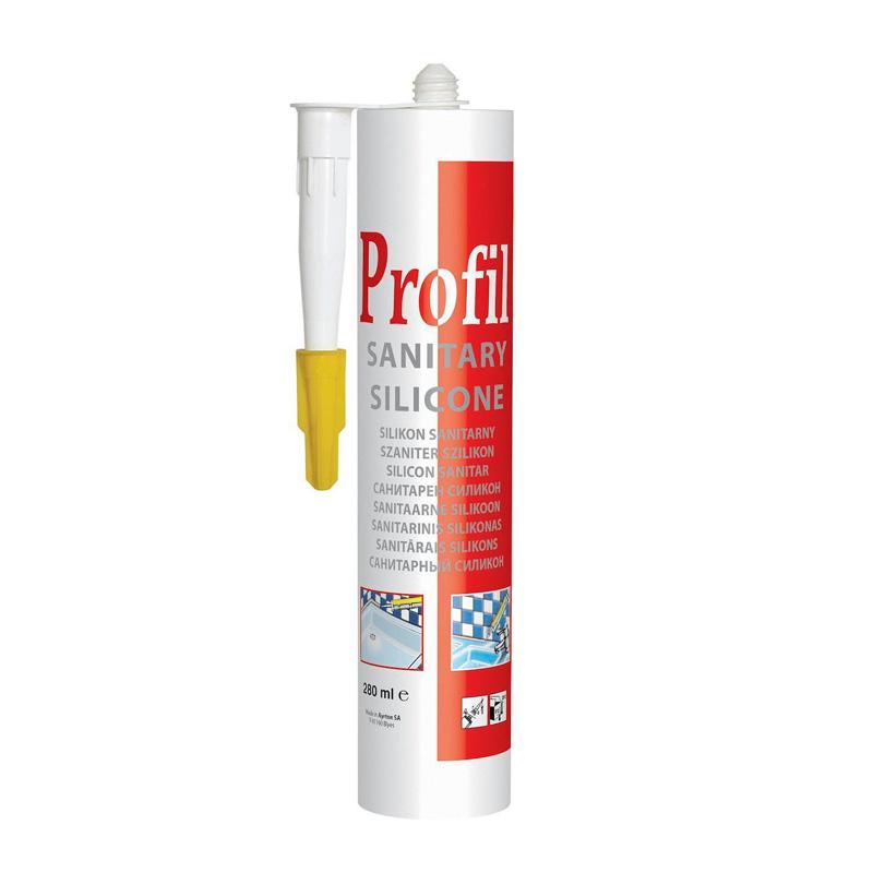 Силиконовый герметик Profil санитарный бесцветный (270 мл)