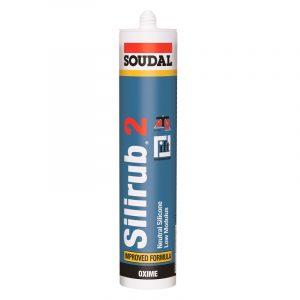Silirub 2 нейтральный силиконовый герметик бесцветный (600 мл)
