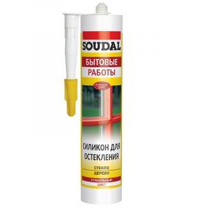 Soudal силикон для остекления бесцветный (280 мл)