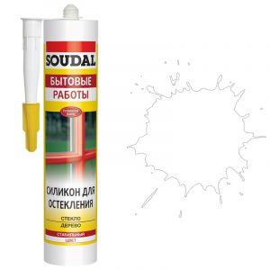 Soudal силикон для остекления белый (280 мл)
