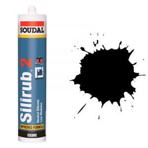 Silirub 2 нейтральный силиконовый герметик черный (600 мл)