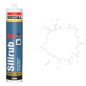 Silirub 2 нейтральный силиконовый герметик белый (600 мл)
