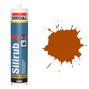 Silirub 2 нейтральный силиконовый герметик коричневый (600 мл)