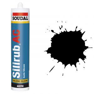 Silirub АС силиконовый герметик для остекления черный (600 мл)