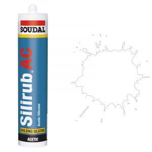 Silirub АС силиконовый герметик для остекления белый (600 мл)