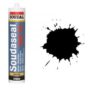 Эластичный клей-герметик быстрого отверждения Soudaseal 240 FC черный (600 мл)