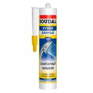 Soudal санитарный силиконовый герметик белый (280 мл)