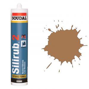 Silirub 2 нейтральный силиконовый герметик светло-коричневый (310 мл)