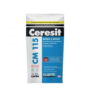 Клей для плитки Ceresit CM 115 (мрамор) 5 кг